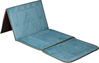 Kinsky Prayer Rug,Turkish Folder Prayer Rugs Janamaz Muslim Prayer Mat Ramadan (Lake Blue)