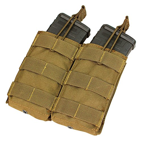 Condor Double M4/M16 Open Top Mag Pouch, Coyote Brown
