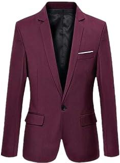 Huixin Men's Suit Business Slim Fit Wedding Men's Suit Tuxedo Jacket Party Suit Blazer Business Suit Blazer and Everyday