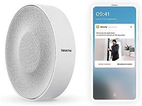 Netatmo Sirena Interior Inteligente, inalámbrica, 110 dB, habilitación y deshabilitación automática, sin suscripción, func...