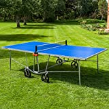 Vermont Table pour Tennis de Table TS100 | Table Extérieure Pliable pour Ping Pong – Jeux en Plein Air (Raquettes & Balles Optionnelles) (Table Seul)