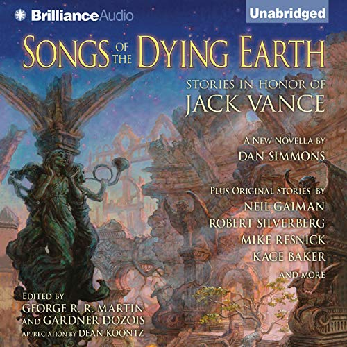 Songs of the Dying Earth     Stories in Honor of Jack Vance              By:                                                                                                                                 Glen Cook,                                                                                        Neil Gaiman,                                                                                        Tanith Lee,                   and others                          Narrated by:                                                                                                                                 Arthur Morey                      Length: 28 hrs and 57 mins     5 ratings     Overall 4.2