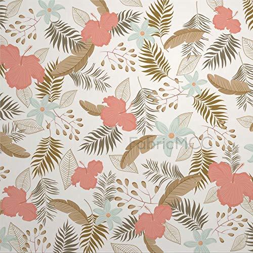 daoyiqi Juego de pegatinas decorativas para azulejos, diseño floral con estampado floral, 10,4 x 10,4 cm, vinilo adhesivo para suelo de azulejos de vinilo resistente al agua, 12 unidades