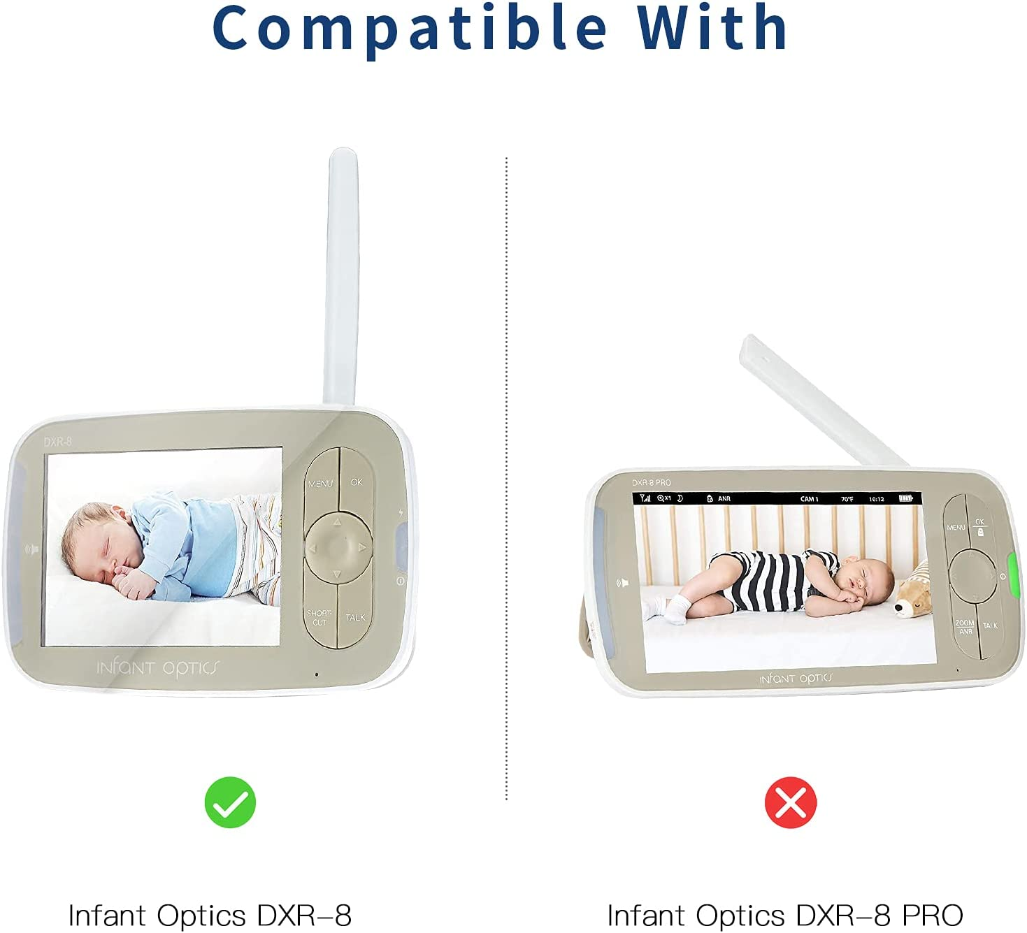 Vomenc Silicone Case for Infant Optics DXR-8 Video Baby Monitor 3.5