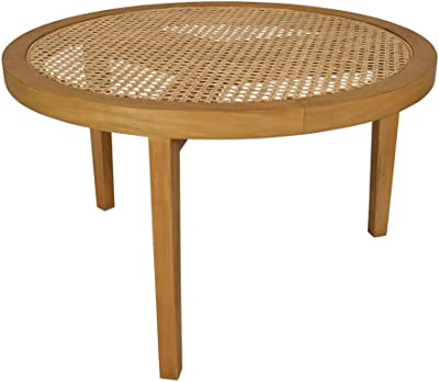 Seabrook Rattan Coffee Table L:75 x D:75 x H:45 cm Natural
