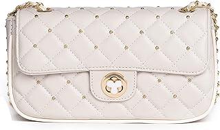 KESUDE Damen Umhängetasche Kleine - Taschen Damen PU Leder Handtasche Schultertasche mit Kette und Gesteppte, City Clutch ...