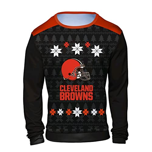 Cleveland Browns Christmas Sweater.Cleveland Ugly Christmas Sweater Amazon Com