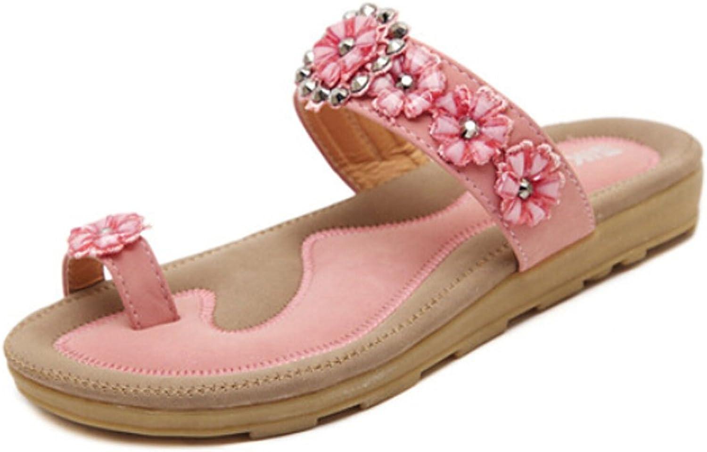 San hojas Flip Flop Sandals Beach Pink Flower Slippers