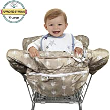 Shopping Cart Cover, 2 in 1 Baby Grocery Cart Seat Cover and High Chair Cover for Kids and Toddlers, Machine Washable and Waterproof