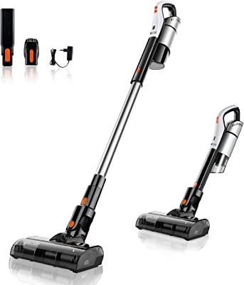 Cordless Vacuum, Meiyou 18KPa Powerful Suction 4-in-1 Stick Vacuum Cleaner, Lightweight & Ultra-Quiet Handheld Vacuum with Brushless Motor for Home Carpet Hard Floor Car Pet Hair