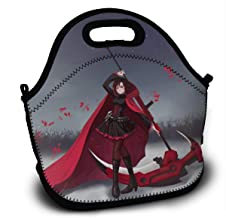 RWBY Ruby Rose Scythe Cape-Lunch Tote Reusable Insulated Thermal Lunch Bag Small Lunch Box Carry Case Handbags Tote With Zipper For Adults Kids Nurse Teacher Work Outdoor Travel Picnic
