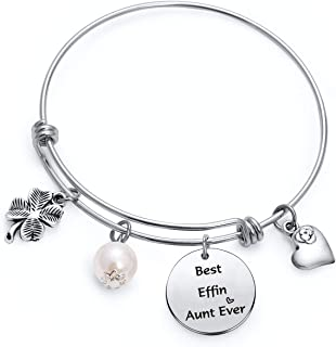 Best Effin Aunt Ever Bracelet For Auntie Gifts Sisters Aunt Christmas Birthday Gift Keychain