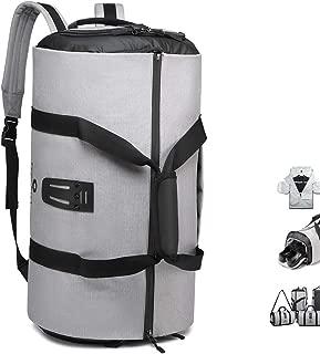 Gym Bag Backpack, 4 in 1 Carry-on Garment Bag Large Duffel Bag Suit Travel Bag Weekend Bag Flight Bag Overnight Bag with Shoes Compartment… (Grey)