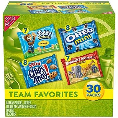 Nabisco Team Favorites Variety Pack, OREO Mini, CHIPS AHOY! Mini, Teddy Grahams Honey & Barnum's Animal Crackers, Halloween Treats