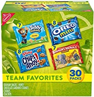 Nabisco Team Favorites Variety Pack, OREO Mini, CHIPS AHOY! Mini, Teddy Grahams Honey & Barnum's Animal Crackers,...