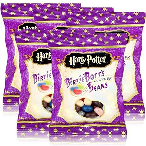 Jelly Belly Harry Potter Bertie Bott´s Beans 54g - Every Flavour - Die wild verrückten Geschmäcker (5er Pack)