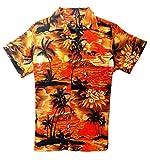 SAITARK Camisa Hawaiana para Hombre, diseño de Playa y Palmeras, para la Playa, Fiestas,...