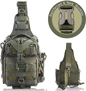 BLISSWILL Fishing Backpack Outdoor Tackle Bag Large Fishing Tackle Bag Water-Resistant Fishing Backpack with Rod Holder Outdoor Shoulder Backpack