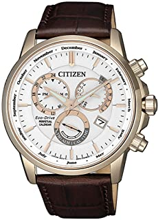 Citizen Mens Solar Powered Watch, Analog Display and Leather Strap - BL8153-11A