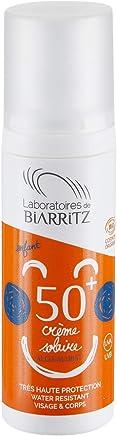 Algamaris Crème Solaire Enfant Spf50+ Certifiée Bio, Haute Protection Naturelle, Formule Hypoallergénique, Sans Conservateur, Sans Parfum- 100ml