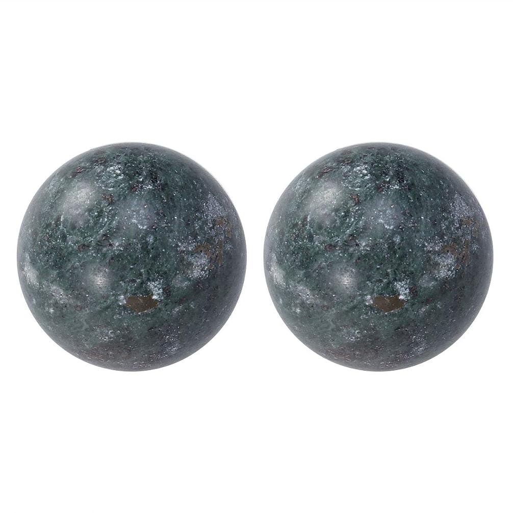 シーフード見かけ上雇用ROSENICE ジェイドハンドボールエクササイズボールストレスレリーフ2個(ブラック)