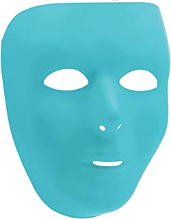 "Amscan 397286.72 Face Mask Accessories Items, 6 1/4"" x 7 3/4"", Turquoise"