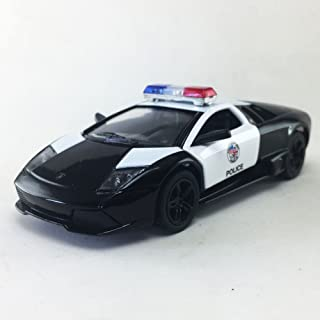 Kinsmart Lamborghini Murcielago LP640 LAPD Police Squad Car Black 1:36 DieCast Model Toy Car Collectible
