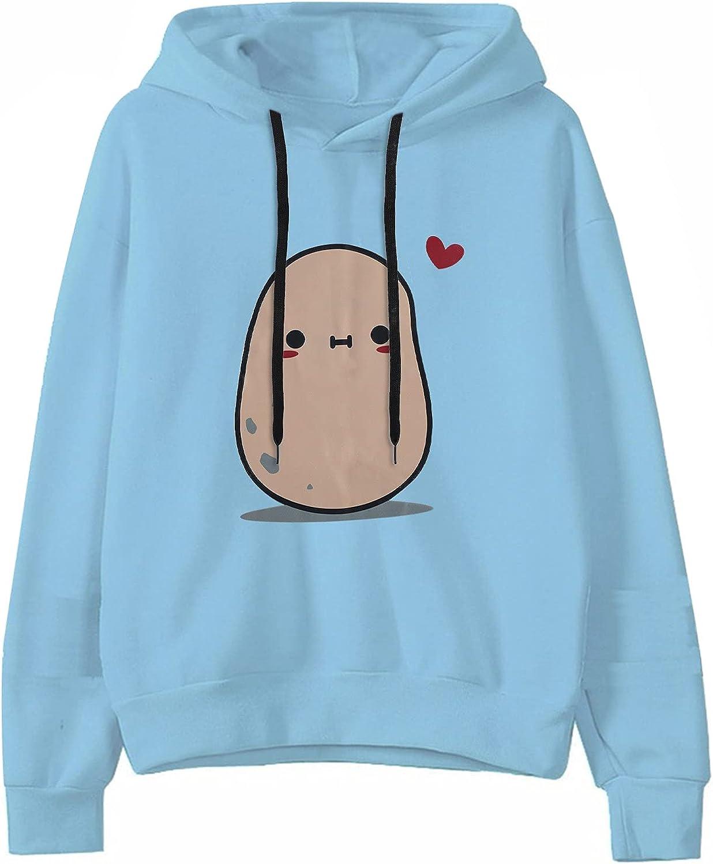 Womens Hoodies Pullover,Womens Teen Girl Cartoons Printed Hoodie Sweatshirts Drawstring Pullover Casual Shirts