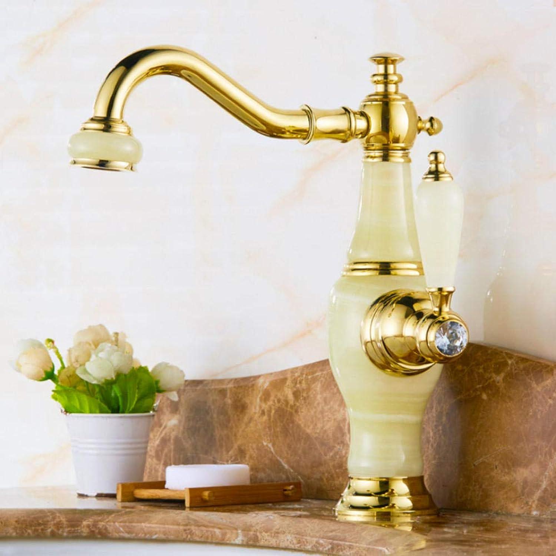 Gorheh Feine Europischen Stil Wasserhahn Becken Heien Und Kalten Blauen Jade Marmorbecken Wasserhahn Alles Kupfer Gold