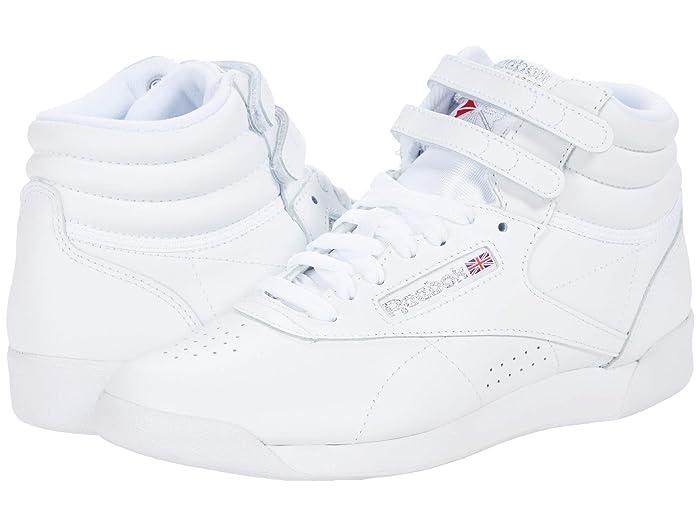 1980s Clothing, Fashion | 80s Style Clothes Reebok Lifestyle FS Hi WhiteSilver Womens Shoes $69.05 AT vintagedancer.com