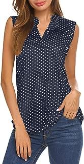 navy white polka dot top