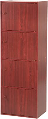 Home Source Industries US 3122 4-Door Utility Cabinet, Mahogany Finish