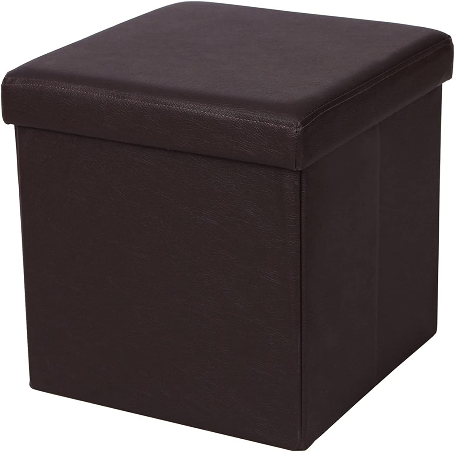 Xcasso PU Leather Smooth Footstool Brown Superior C Daily bargain sale for 383838cm Direct store