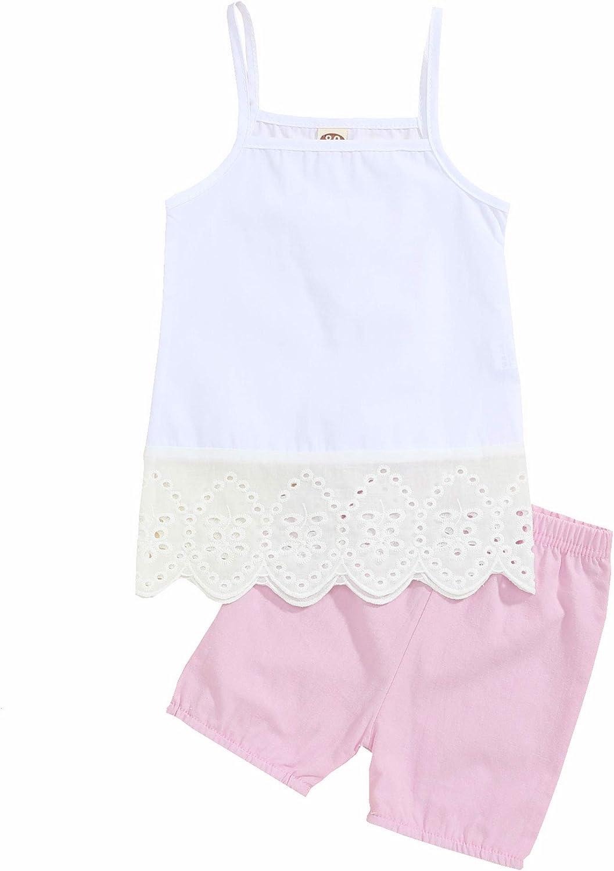 Girl Summer Clothes Toddler Baby Girls Summer Clothes Sling Blouse Shorts Girls Summer Clothes