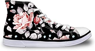 LedBack High Top Galaxy Printing Canvas Shoes for Women Causal Sneakers Teenagers Girls Lightweight 3D Trainers Size 5-11