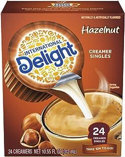 International Delight Coffee Creamer Singles, Hazelnut, 24 Count (Pack of 6)