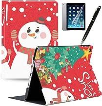 GSPSTORE iPad Mini 4 Case with Auto Sleep/Wake Function Trifold Stand Christmas Case Snowflake Christmas Tree Santa Claus Giraffe Pattern Pretty PU Leather Flip iPad case Cover#10