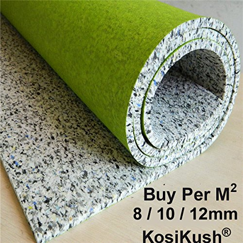 Kosikush Super 8,10, 12mm Thick Luxury cushion Carpet Underlay Made In The UK