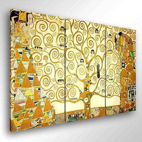 Degona Quadro Moderno Klimt L'Albero Della Vita - Cm 150X100 Stampa Su Tela Canvas Arredamento Arte Arredo Gustav Klimt XXL