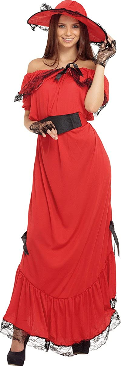 Max 80% OFF Fancy Dress Party Victorian Girl Costume C Hara Adults Jacksonville Mall Scarlet O