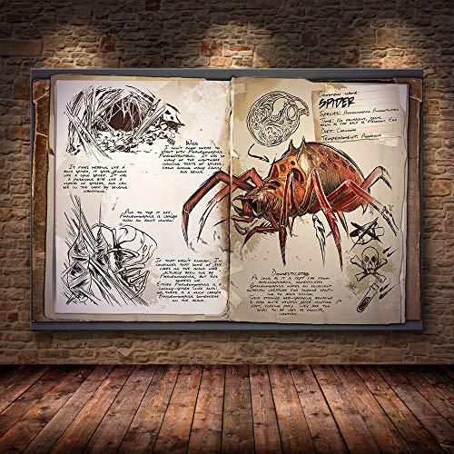 h-p Ark Survival Evolved Dinosaur Game Canvas Art Pintura Al Óleo Poster...