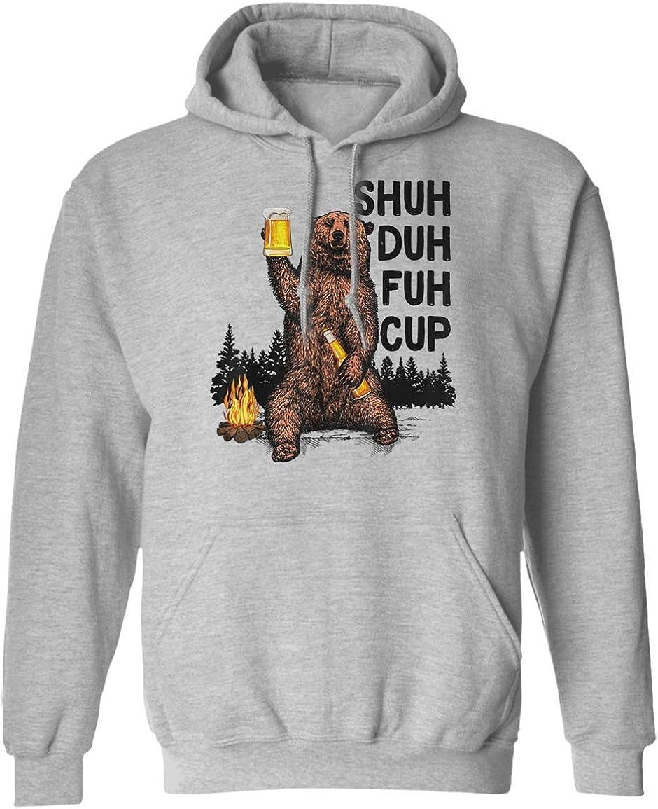 VTMMO バーゲンセール Shuh Duh Fuh Cup Bear Camping 新作からSALEアイテム等お得な商品満載 Beer Tshirt Drinking H Funny