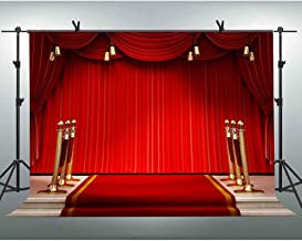 FLASIY 10x7ft Red Carpet Stage Backdrop Awards Ceremony Photography Background Photo Video Studio Props LHAY418