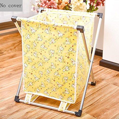Cesto de ropa sucia amarillo con diseño de patrón de animales