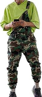 X-xyA Men's Camouflage Denim Bib Overalls Dungarees Jeans Jumpsuits,XXL