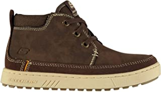 Official Skechers Direct Pulse Child Boys Shoes Brown Trainers Footwear
