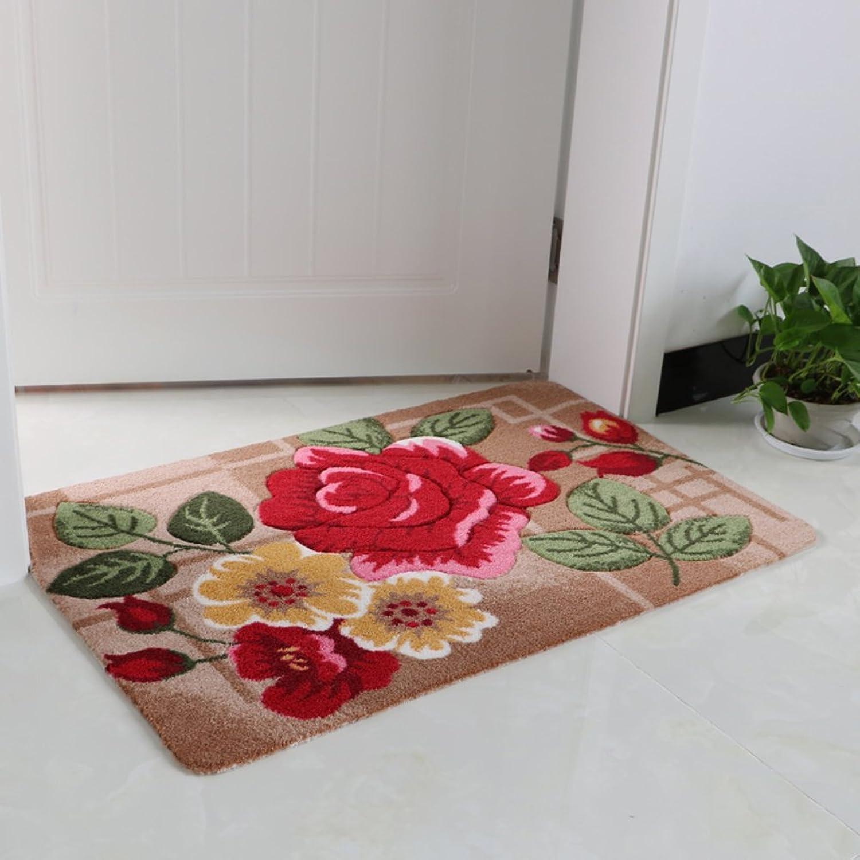 Thick Doormats, Soft Non-Slip Wear-Resistant Mat Carpet, Strong Water Absorption, Bathroom Kitchen Living Room Doorway-E 97x147cm(38x58inch)