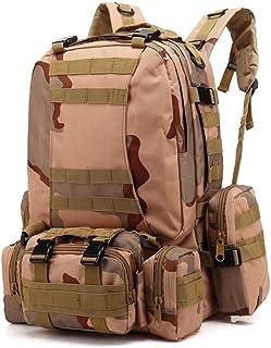 NKJGFV Bolsa de Oxford 55L Mochila táctica de Camuflaje Militar del ejército de Tiro con Arco Caza Pesca Mochilas Camping al Aire Libre Mochila