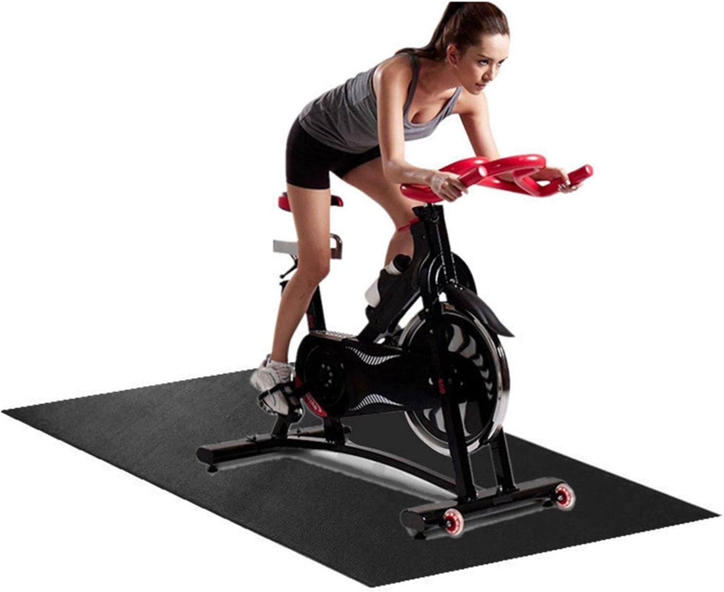 Tappetino per attrezzature sportive Tappetino per tapis roulant durevole per proteggere il pavimento Vogatori Crosstrainers Tappetino di Protezione del Pavimento per Cyclette Tapis Roulant