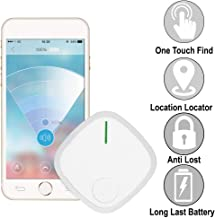 Key-Finder Smart Tracker, Phone Wallet Bag Remote Finders Bluetooth Locator Kids-GPS Tracking-Device (1 Pack, White)